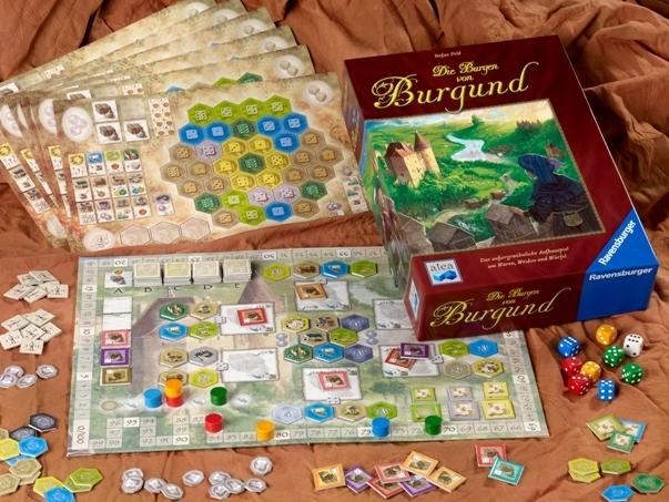 Castillos Borgoña juego de mesa